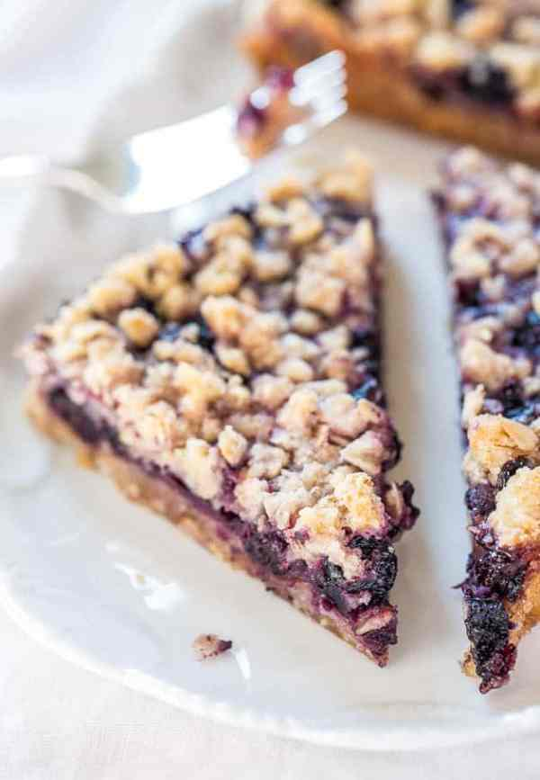 Blueberry Oatmeal Crumble Bars from Averie Cooks