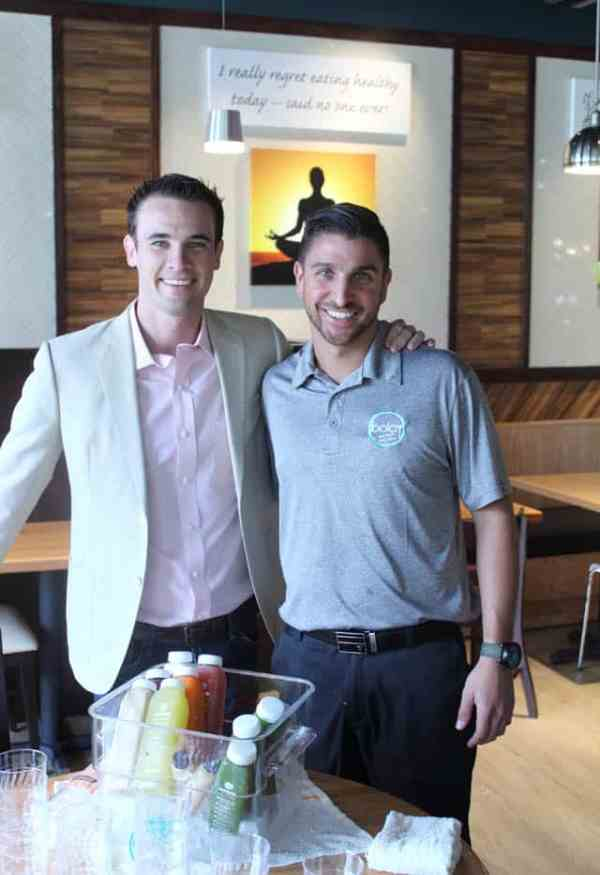 Bolay cofounder Chris Gannon with Juice Afficianado JT|2CookinMamas