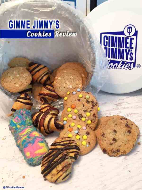 Gimme Jimmys Cookies pin|2CookinMamas An honest review of some delicious cookies. Perfect for gifts or just to give yourself a treat!