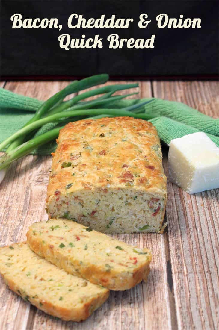 Bacon Cheddar And Onion Quick Bread 2 Cookin Mamas