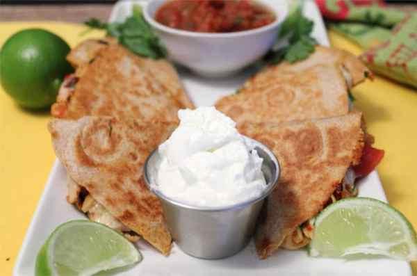 Chipotle Chicken Quesadillas closeup|2CookinMamas