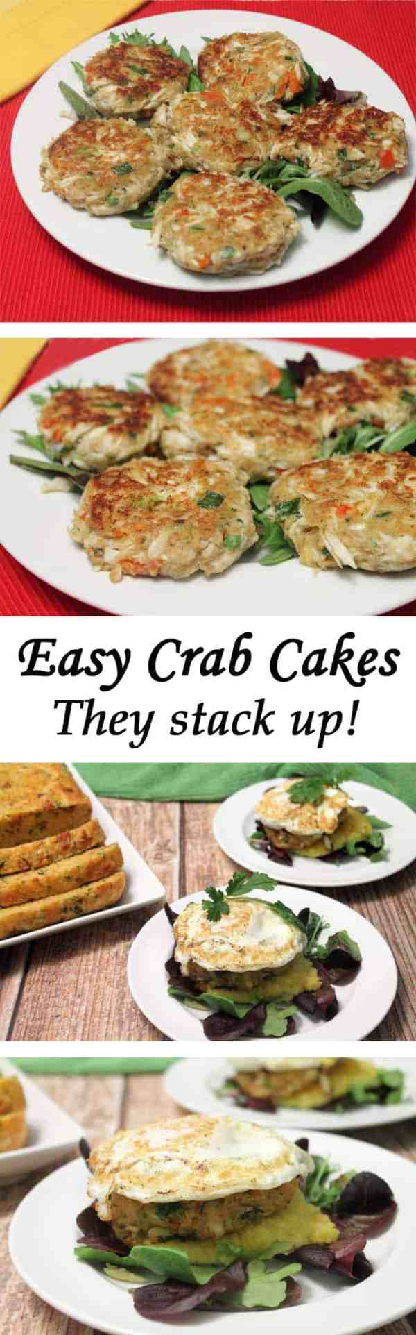 Crab Cakes | 2CookinMamas Quick & easy crab cakes you can plate as is or stack them up for an impressive meal. And you don't have to tell anyone how easy it was!