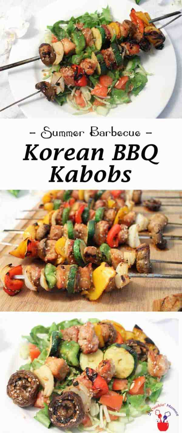 Korean BBQ Kabobs | 2 Cookin Mamas Nothing is easier or more delicious than these Korean BBQ Kabobs. Choose your favorite meat & veggies, marinate them then grill to perfection! Dinner in 30!