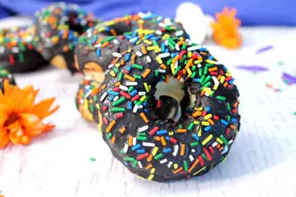 Gluten-free Vanilla Doughnuts with Chocolate Glaze 4 | 2 Cookin Mamas