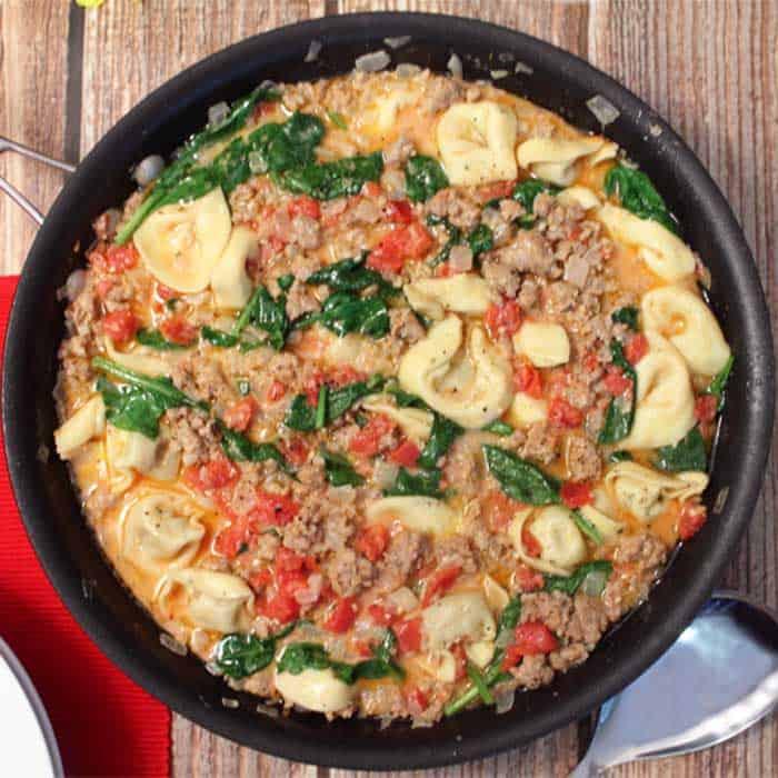 Easy Italian Sausage Tortellini Skillet