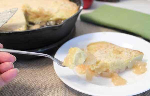 Apple Dutch Baby Pancake bite | 2 Cookin Mamas