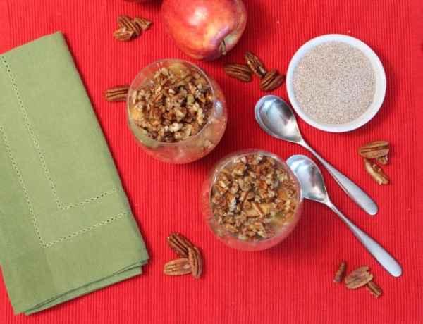 Apple Pecan Chia Pudding 1 | 2 Cookin Mamas