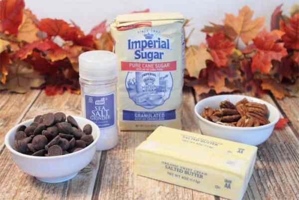 Easy Chocolate Toffee Crunch ingredients | 2 Cookin Mamas