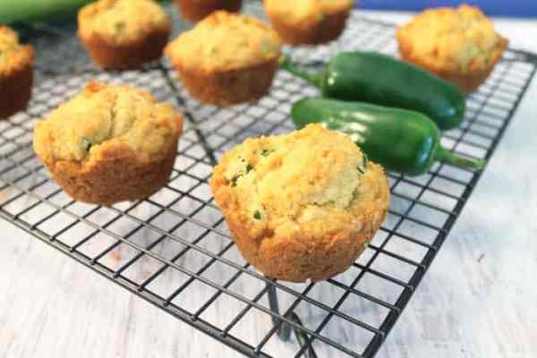 Green Onion Jalapeno Cornbread Muffins | 2 Cookin Mamas