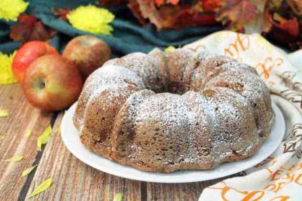 One Bowl Apple Cake baked | 2 Cookin Mamas