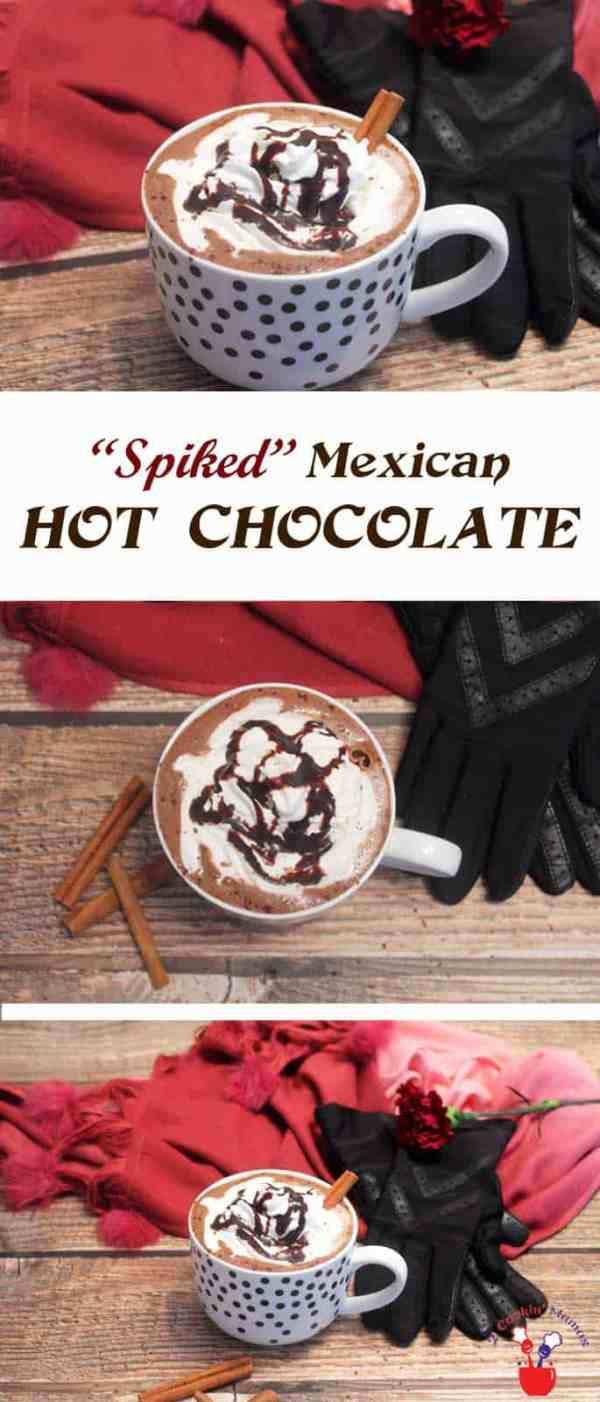 Spiked Mexican Hot Chocolate | 2 Cookin Mamas Our Spiked Mexican Hot Chocolate is the perfect drink for a cold night to wrap your hands around. Rich hot chocolate is flavored with cinnamon, sweetened with marshmallows then kicked up a notch with coffee tequila. #cocktail