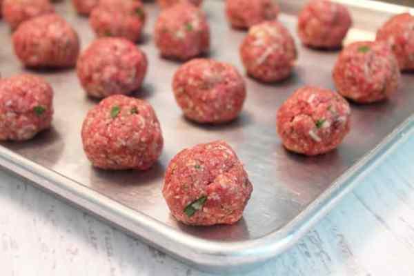 Smoky Mozzarella Meatball Casserole meatballs   2 Cookin Mamas
