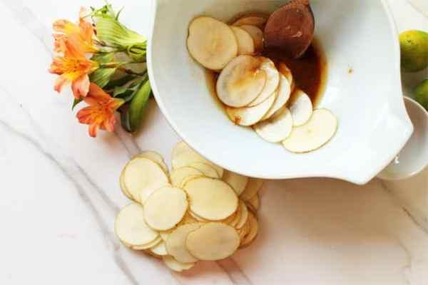 Asian Grilled Potato Chips prep 2 | 2 Cookin Mamas