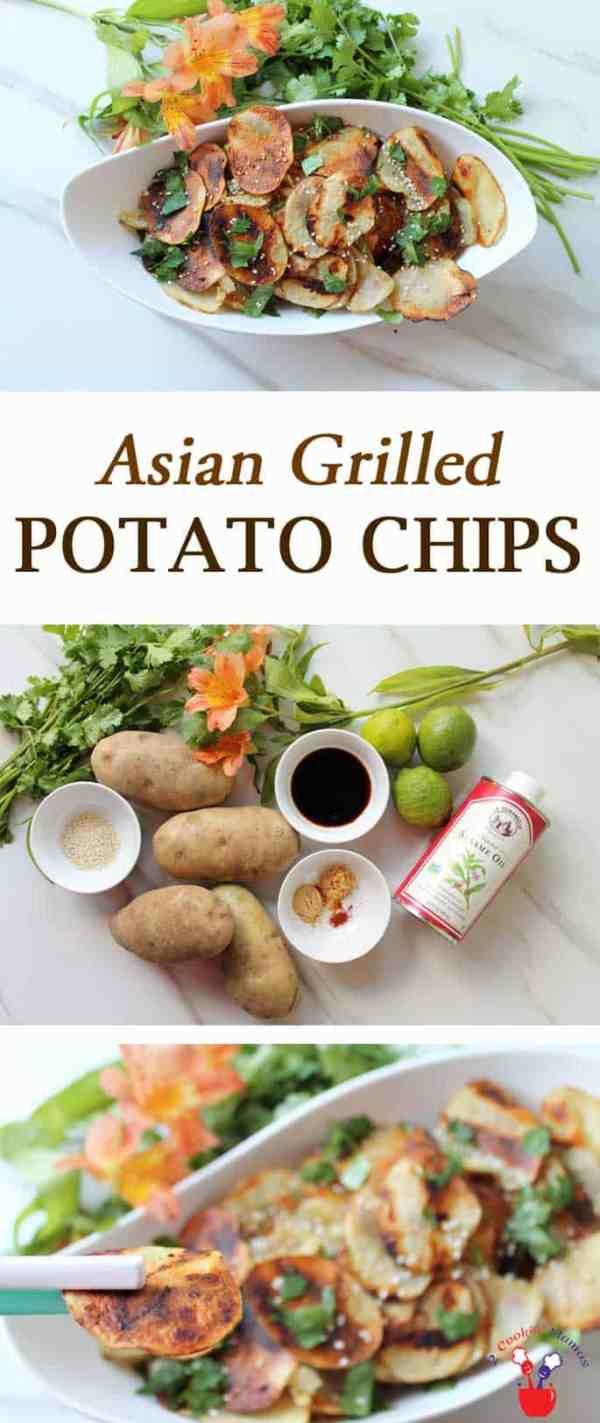 Grilled Asian Potato Chips | 2 Cookin Mamas Get your spicy on & grab your chopsticks! These Asian Grilled Potato Chips are the perfect side dish for dinner when just ordinary potato chips won't do.
