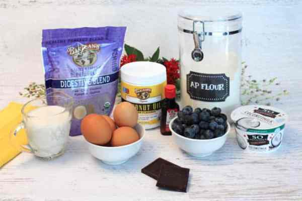 Healthy Blueberry Crepes ingredients | 2 Cookin Mamas