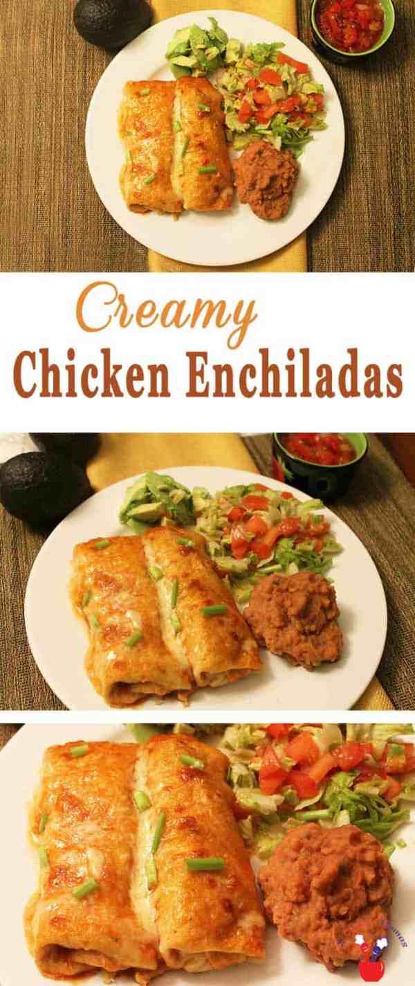 Chicken Enchiladas main   2 Cookin Mamas