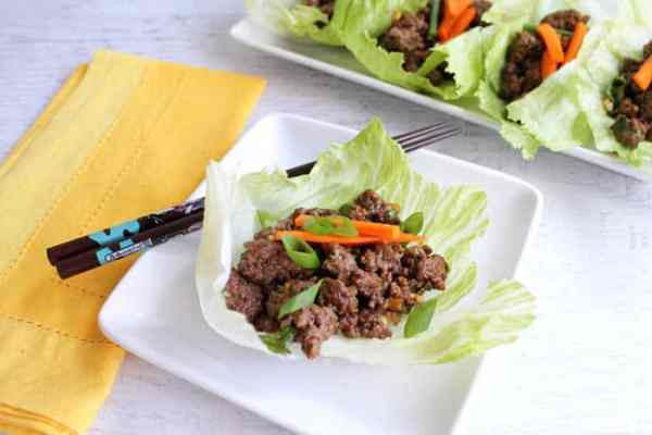 Asian Beef Lettuce Wraps 2 | 2 Cookin Mamas