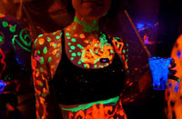 Neon Party, Black Light, Minnesota, Iowa, Clothing Optional