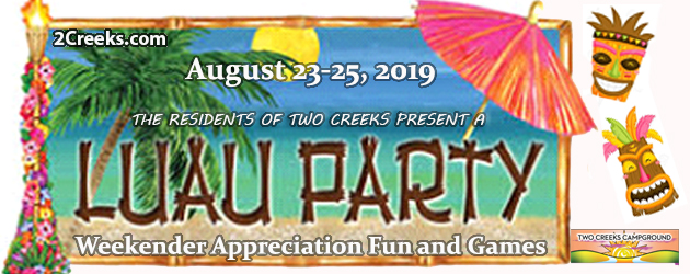 clothing optional, luau party, minnesota camping, st. croix state park camping