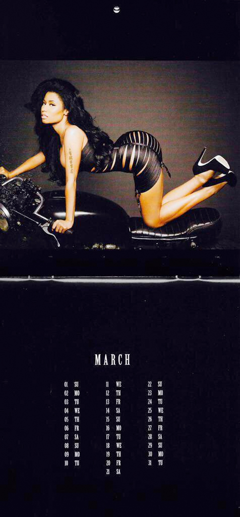 nicki calender 03 Thirst Trap: Nicki Minaj's 2015 Calendar