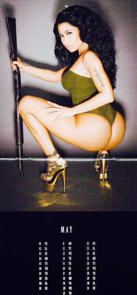 nicki calender 05 Thirst Trap: Nicki Minaj's 2015 Calendar