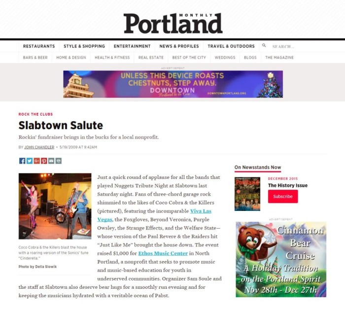 2009 The Portland Monthly