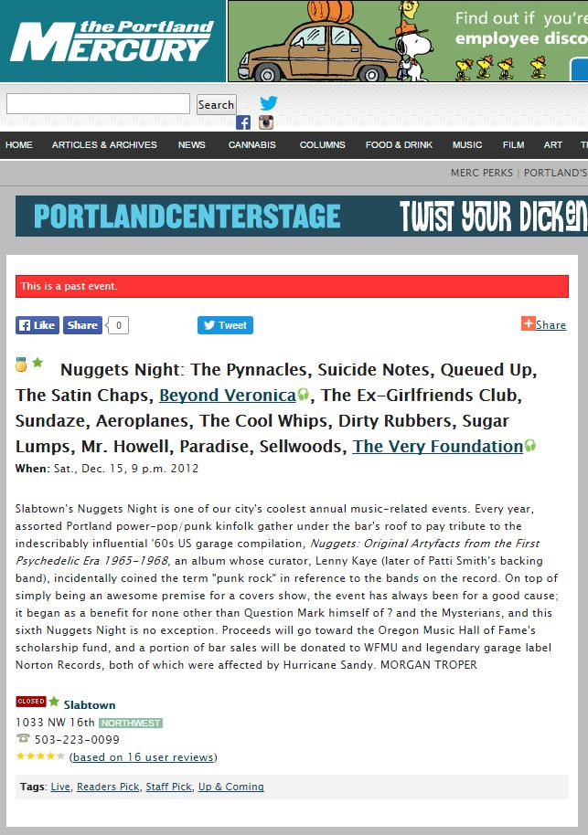 2012 Press The Portland Mercury