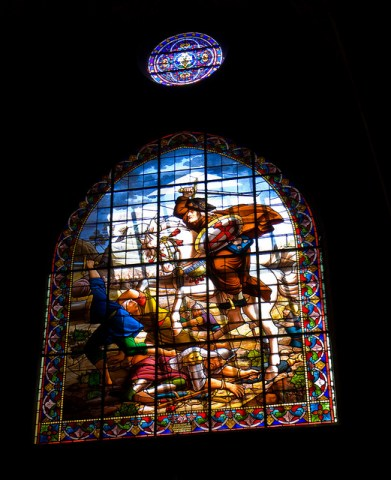 A Stained Glass Window - Eglise St Jacques, Perpignan