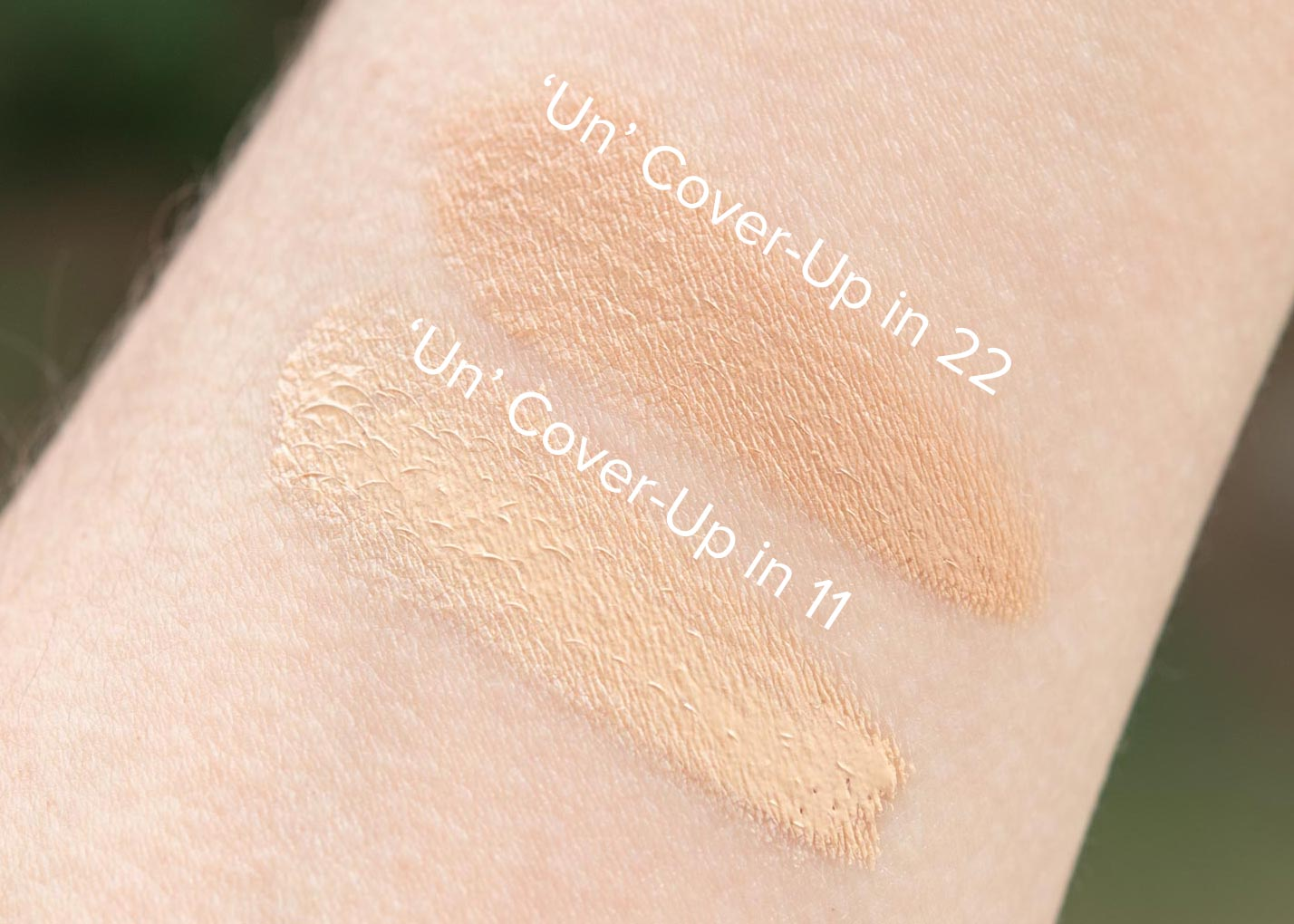 "Review  Rms Beauty ""un"" Coverup 11, 22 Swatches"