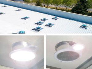 URANUS conduit de lumière sur site industriel