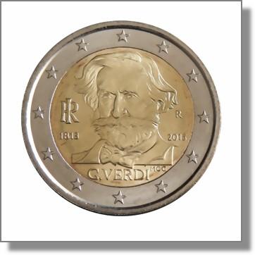 Italien  2 Euro Sondermnze 2013  200 Geburtstag von