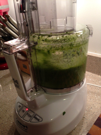 The food processor in action!