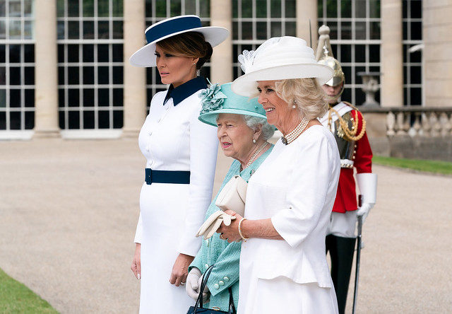 Melania Trump, First Lady, UK, Buckingham Palace, Queen Elizabeth, Camilla Bowles