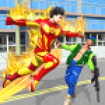 Flying Police Robot Fire Hero Gangster Crime City 8 APK MODs Unlimited Money Hack Download for android