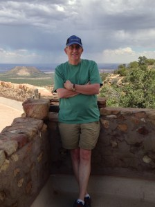Howard at the desert view spot of the Grand Canyon