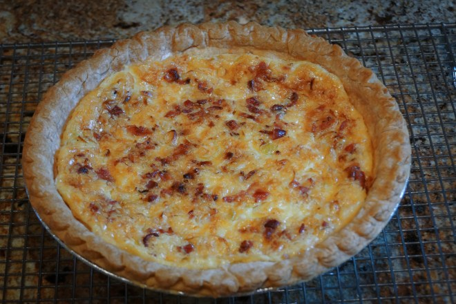 Refrigerator Pie (aka Quiche) fresh out of the oven,