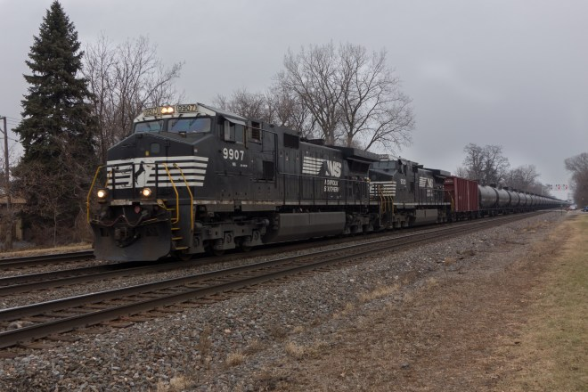 Norfolk Southern  heading west on the BNSF transcon