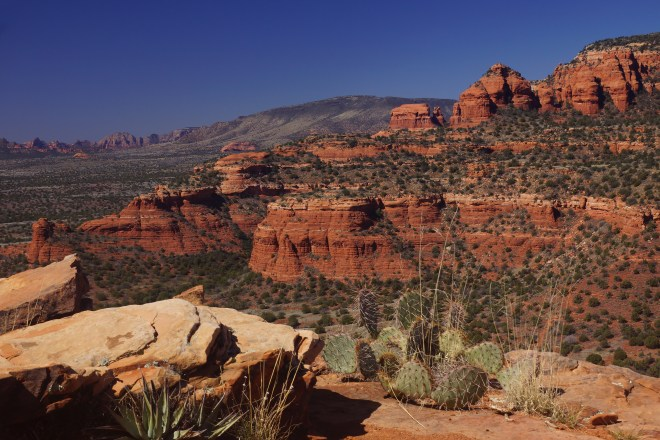 View from the mesa on  Doe Mountain trail in Sedona