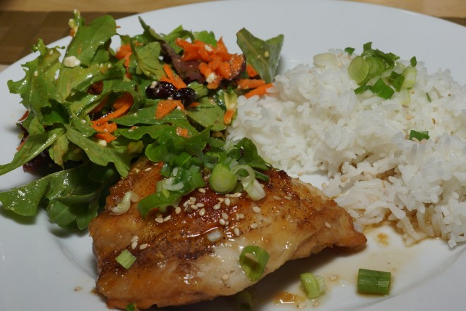 Dinner is served: Oven-baked Sesame Chicken Thighs