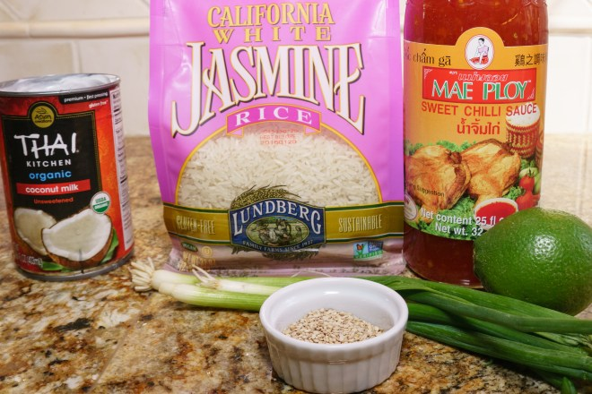Ingredients for Sweet Chili Chicken with Coconut Rice
