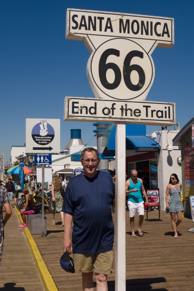 A more satisfying end (Start?) of Route 66 on the Santa Monica pier