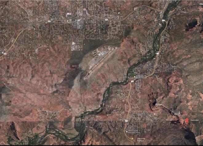 Overview map of Little Horse Trail - Sedona, Arizona