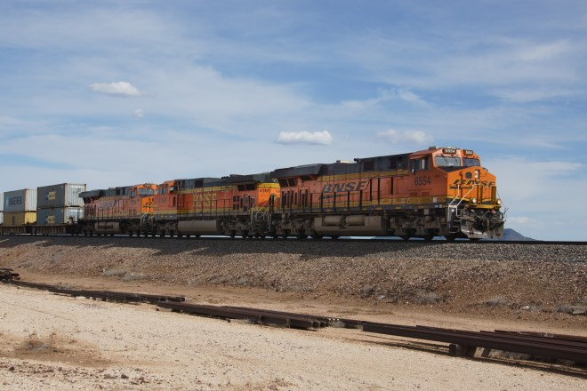 BNSF freight outside Williams