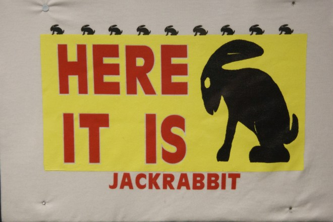 T-shirt with the old Jackrabbit ranch billboard