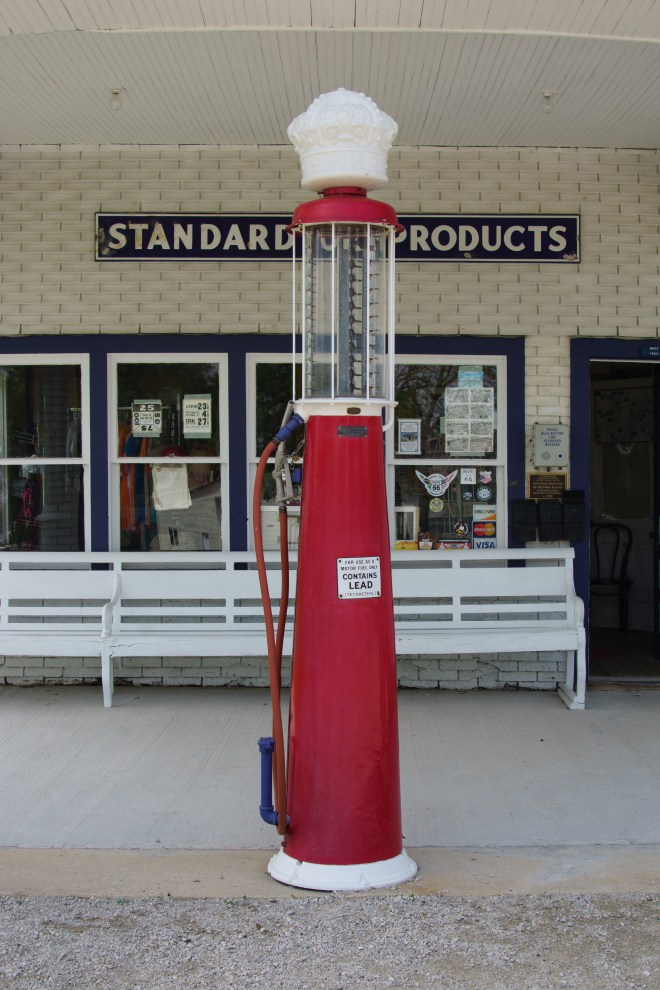 Gas pump at Odell Standard Gas Station
