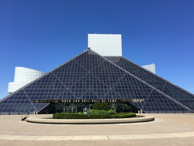 Rock and Roll Hall of Fame in Cleveland, Ohio.