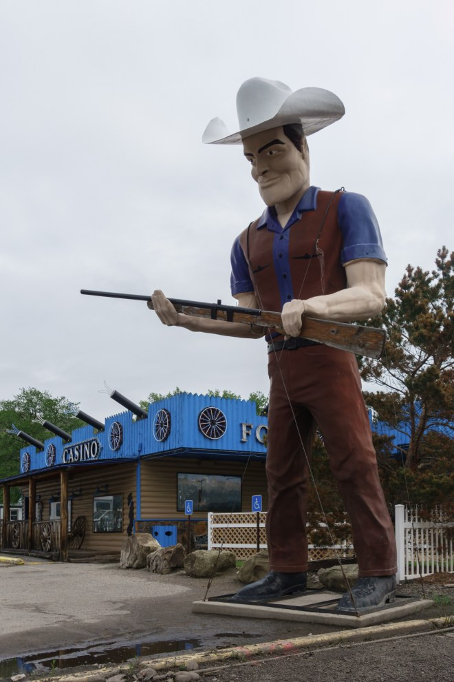 A giant brother in Miles City, Montana