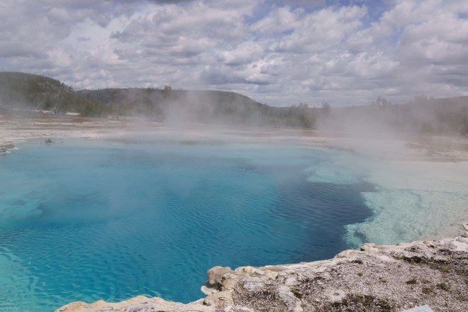 One of the many pools at Yellowstone National Park