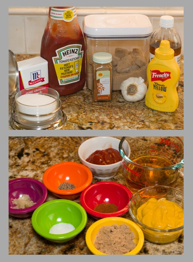 Mustard Vinegar Sauce ingredients