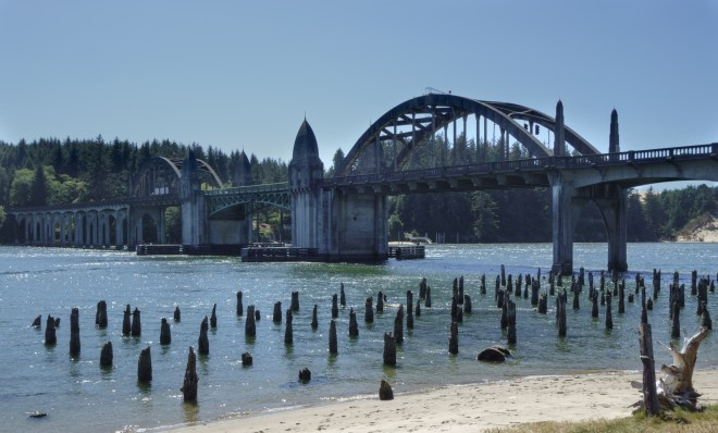 Bridge over the Siuslaw River in Florence, Oregon